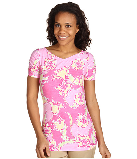 Bluze Lilly Pulitzer - Leila Top Printed - Hotty Pink Day Lilly