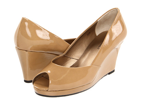 Pantofi Vaneli - Brunella - Nude Smack Metallic Patent