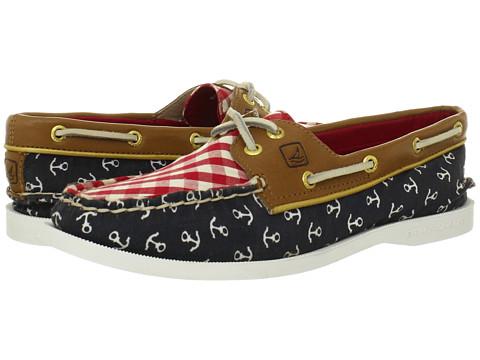 Pantofi Sperry Top-Sider - A/O 2 Eye - Navy/Anchors/Red Gingham/Cognac