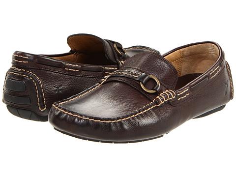 Pantofi Frye - West Ring Driver - Dark Brown Pebbled Full Grain