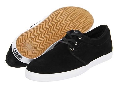 Adidasi Dekline - River - Black/White (Suede)