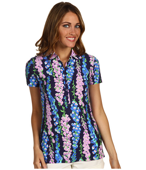 Bluze Lilly Pulitzer - Trophy Polo Printed - Bright Navy Foxy