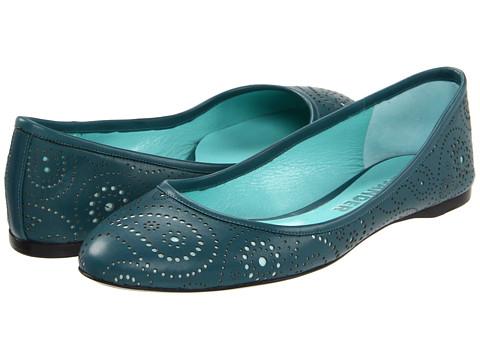 Pantofi Jil Sander - JS18302 - Talco Paisley Perforated Calf/Teal