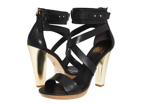 Sandale Pour La Victoire - Macaria - Black Leather
