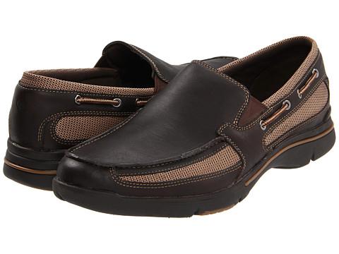Pantofi Rockport - Garthan - Dark Brown Leather/Multi Mesh