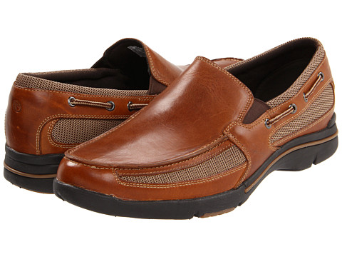 Pantofi Rockport - Garthan - Tan Leather Multi