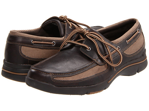 Pantofi Rockport - Gravelton - Dark Brown Leather/Multi Mesh