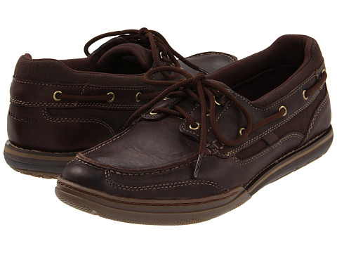 Pantofi Rockport - Morgan Coast 3 Boat Shoe - Dark Brown