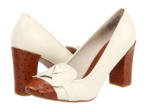 Pantofi Rockport - Helena Knot Tie Pump - Cream/Tan