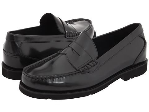 Pantofi Rockport - Oak Knoll - Shakespeare Circle - Black Brush-Off Leather
