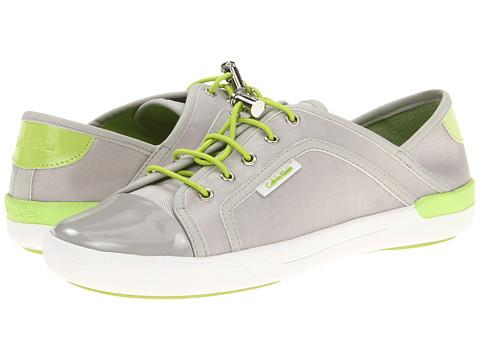 Adidasi Calvin Klein - Nia - Ash Grey/Citron Sport Nylon/Patent/Suede