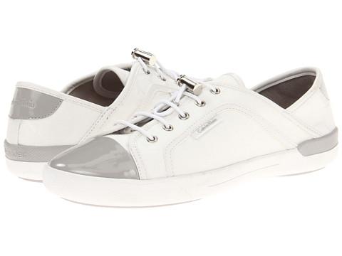 Adidasi Calvin Klein - Nia - White/Ash Grey Jacquard/Patent