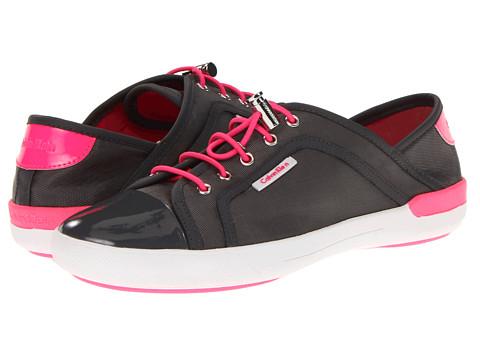 Adidasi Calvin Klein - Nia - Grey/Bright Pink Sport Nylon/Patent/Suede