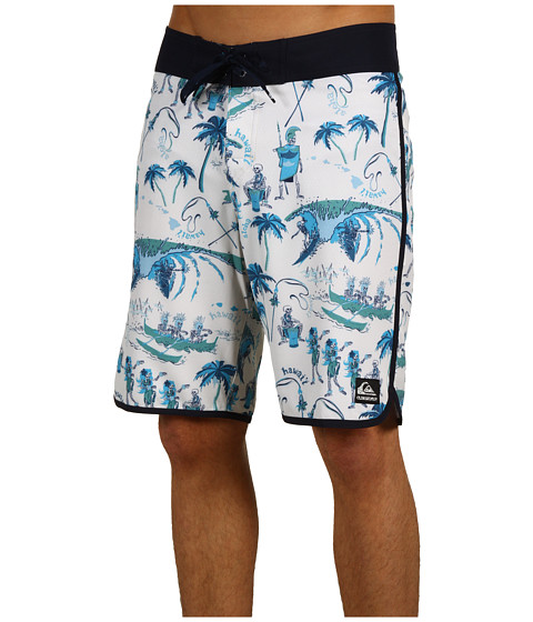 "Special Vara Quiksilver - Wilderness 20\"" Boardshort - Off White"