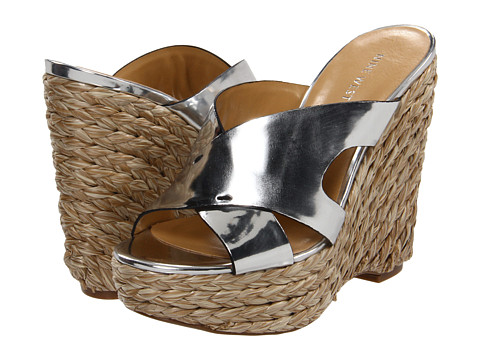 Sandale Nine West - MakeNice - Silver Synthetic