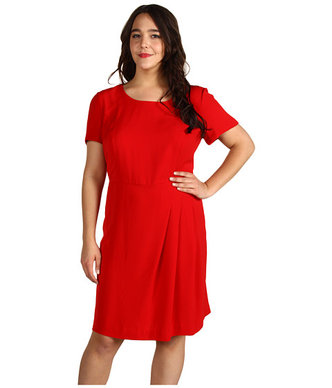 Rochii DKNY - Plus Size S/S Dress With Pleated Front - Salsa