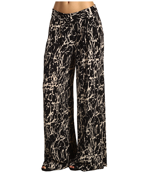 Pantaloni Kenneth Cole - Black Abstract Crackle Printed Pant - Black Combo