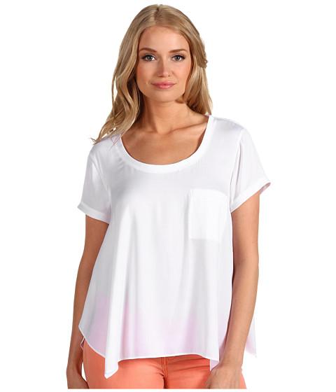Bluze BCBGMAXAZRIA - Kelsey Round Neck T-Shirt Top - White
