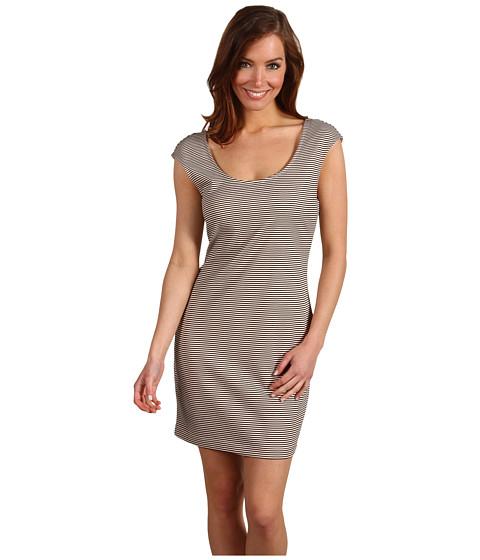 Rochii BCBGeneration - Striped Low Back Dress - Light Peach