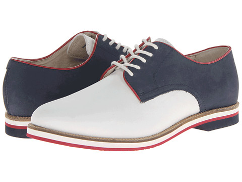 Pantofi Bass - Buckingham - White/Navy/Red