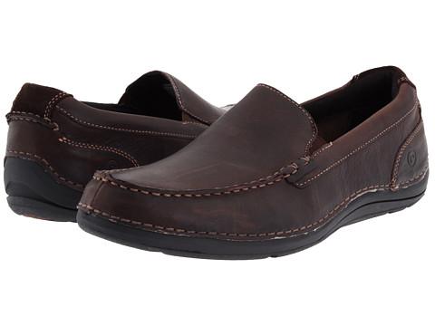 Pantofi Rockport - Thru The Week Slip On - Dark Brown Leather