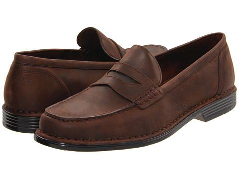 Pantofi Rockport - Washington Square Penny - Dark Brown Oiled Off Nubuck