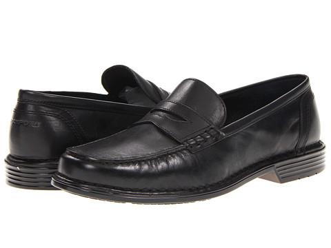 Pantofi Rockport - Washington Square Penny - Black Smooth