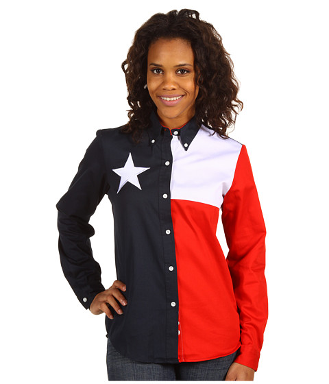 Camasi Roper - Texas Pieced Flag Shirt - Natural