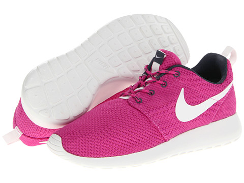 Adidasi Nike - Roshe Run - Club Pink/Dark Armory Blue/Volt/Summit White