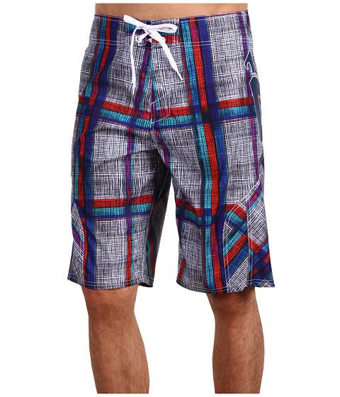 Special Vara Matix Clothing Company - Sketchplaid Boardshort - White