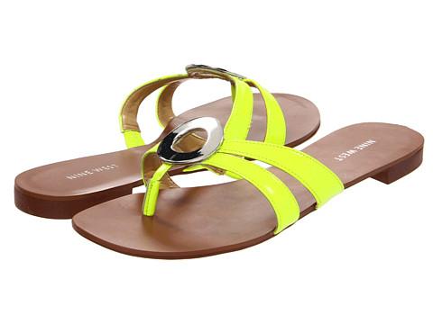 Sandale Nine West - Racket - Yellow Synthetic