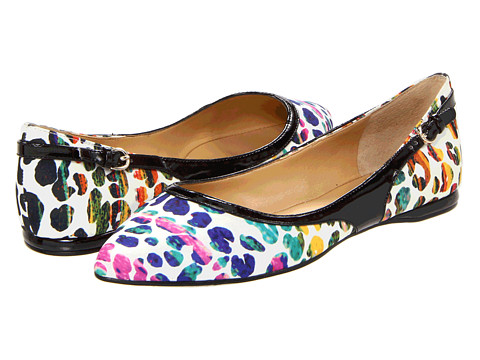 Balerini Nine West - SuperFly - White Multi/Black Fabric