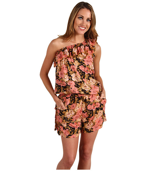 Pantaloni Brigitte Bailey - Nadia One-Shoulder Romper - Medium Black/Beige