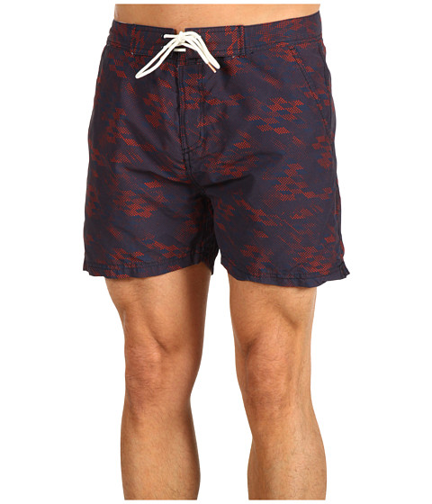 Special Vara Scotch & Soda - Nylon Geo Print Swimshort - Navy/Red/White
