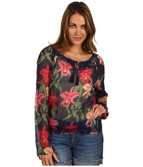 Bluze Lucky Brand - Dale Hope Claire Peasant Top - American Navy Multi