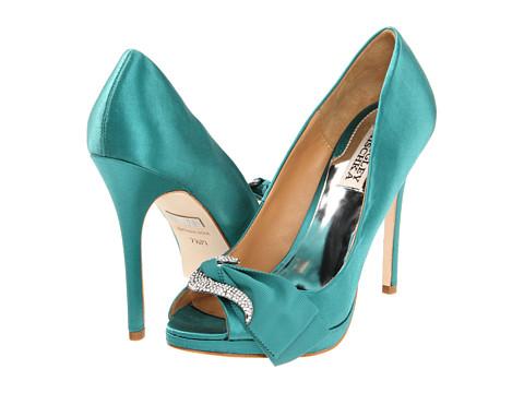 Pantofi Badgley Mischka - Gylda - Jade Satin