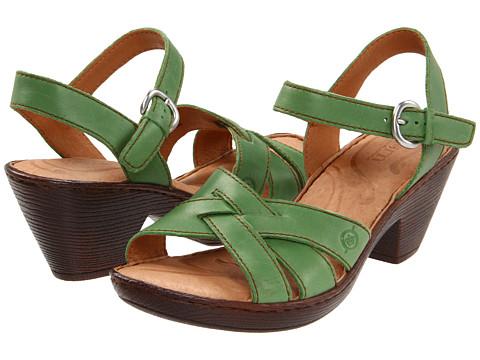 Sandale Born - Belinda Sandal - Mandelin Full Grain/Green