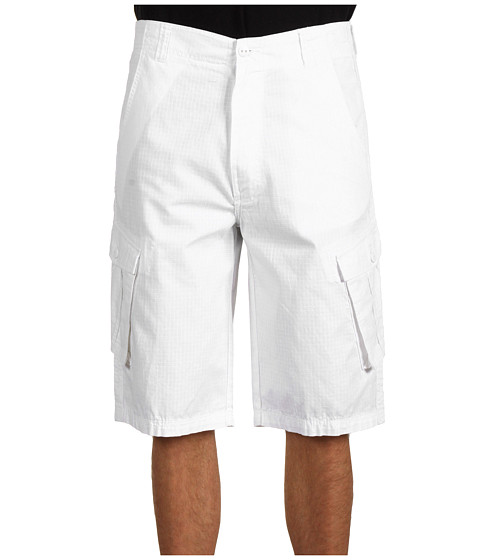 Pantaloni Calvin Klein - Big & Tall Solid Ripstop Cargo Short - White