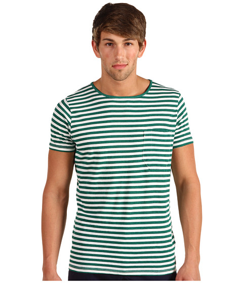 Tricouri French Connection - Livingstone Stripe Tee - Spruce