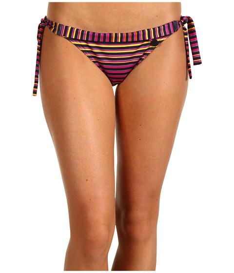 Costume de baie Calvin Klein - Tubular Stripe Tie Side Classic - Pink Glow