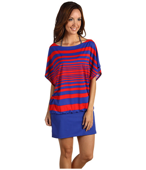 Costume de baie DKNY - Maren Stripe Cover-Up - New Red Multi