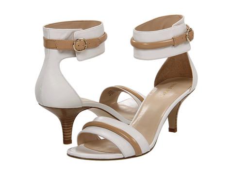 Sandale Nine West - Onboard - White/Light Natural Leather
