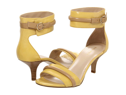 Sandale Nine West - Onboard - Yellow/Light Natural Leather