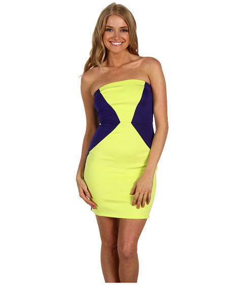 Rochii Type Z - Sydney Dress - Lime/Blue