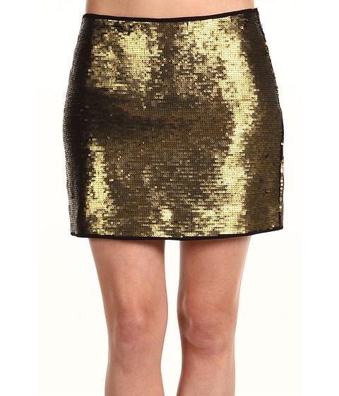 Fuste BCBGMAXAZRIA - Catrine Mini Sequin Skirt - Gold Combo