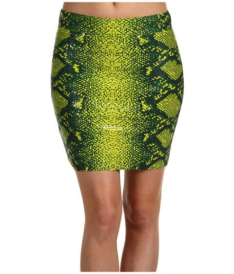 Fuste BCBGMAXAZRIA - Simone Snake-Print Skirt - Bright Lime Multi