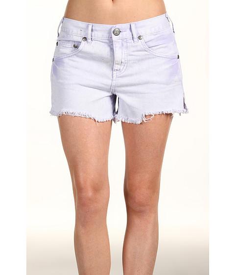 Pantaloni Free People - Colored Denim Cut-Off Short - Lavender