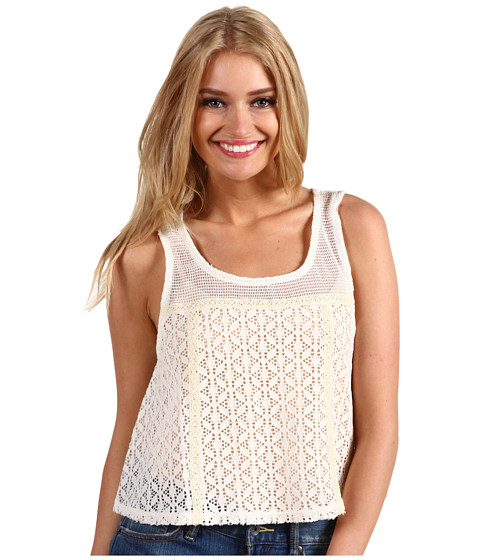 Tricouri Free People - Scallop Novelty Swing Top - Ivory
