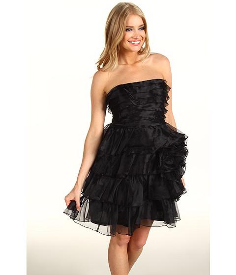 Rochii Jessica Simpson - Tiered Strapless Dress - Black
