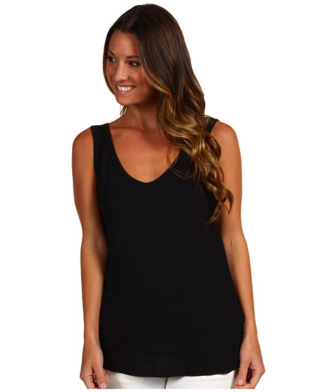 Tricouri Christin Michaels - Lonnie Modal Tank - Black